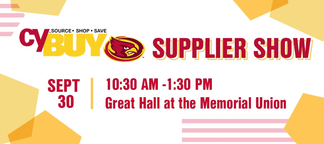 Mark your calendar! cyBUY Supplier Show is September 30th!