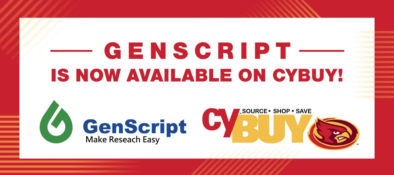 Genscript is now available  on cyBUY!