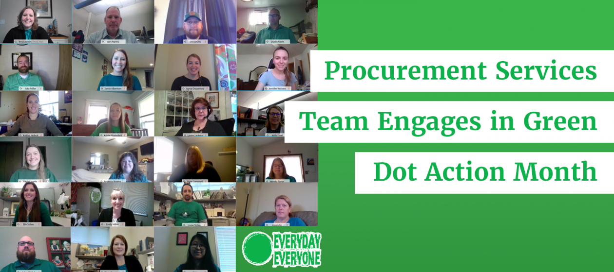 Procurement Services Team Engages in Green Dot Action Month
