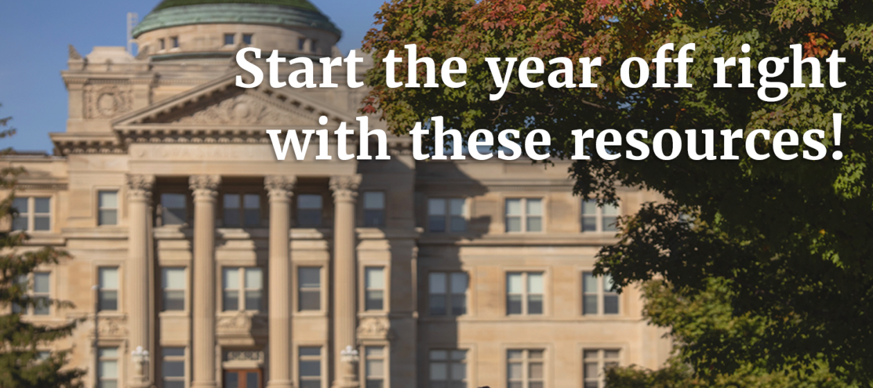 Start the year off right with these resources!